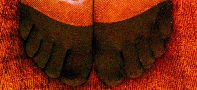 Colourful Running Toe Socks