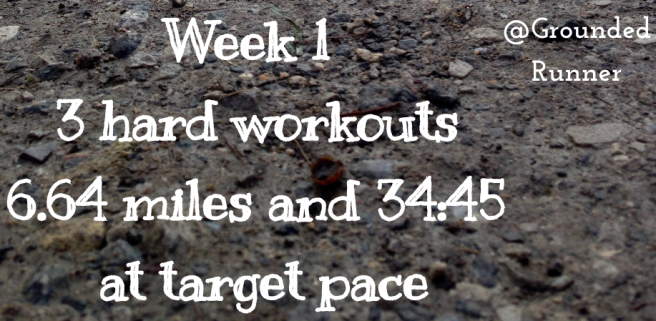 One Mile Challenge: Week 1