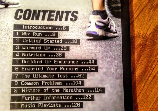 The Contents of How to Run by Hugh Jones