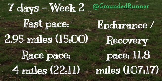 10 Mile Training: Week 2