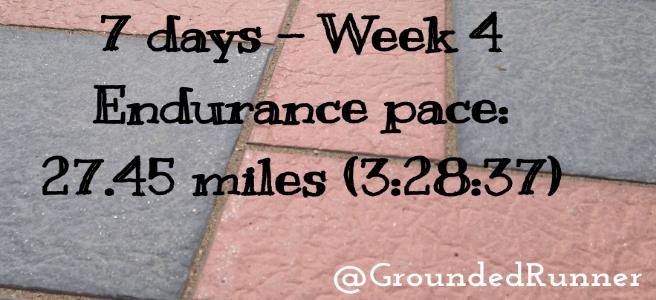 10 mile Training: Week 4