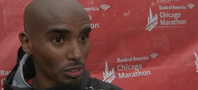 Mo Farah at Bank of America Chicago Marathon