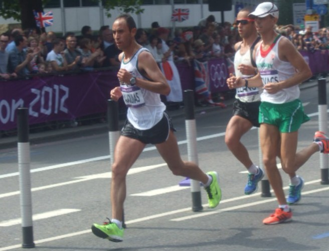 Runners at 2012 Men's Olympic Marathon in London