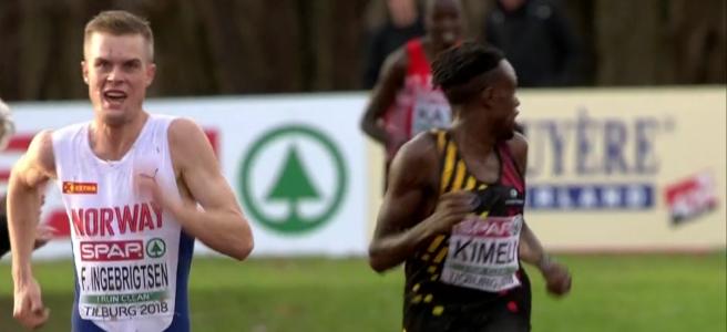 Filip Ingebrigtsen Winning Cross Country Championship 2018