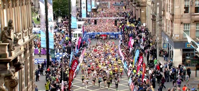 2019 Great Scottish Run start line