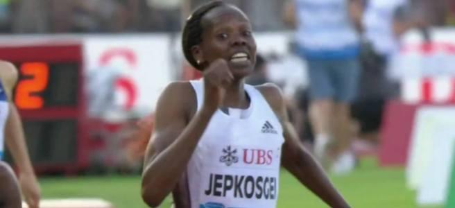 Nelly Jepkosgei at Lausanne Diamond League 2019