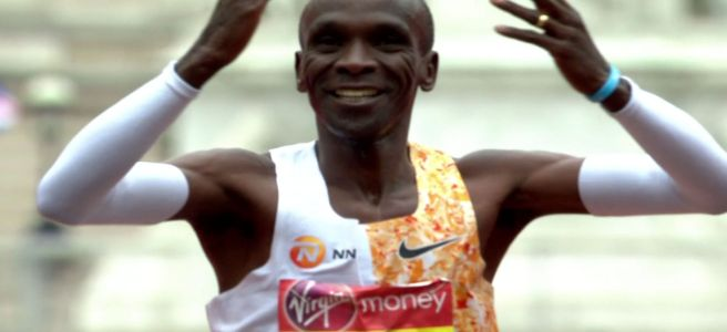 Eliud Kipchoge winning the 2019 London Marathon