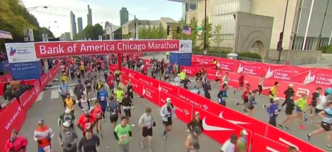 2019 Chicago Marathon start line
