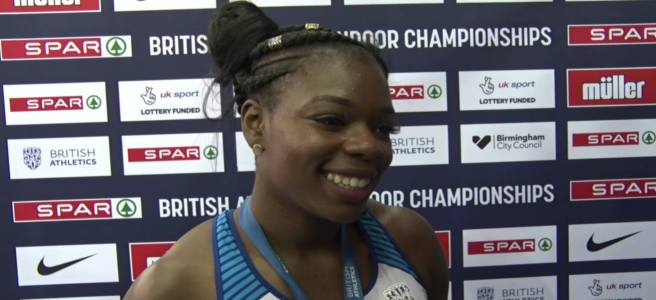 Asha Philip at 2019 British Indoor Athletics Championships