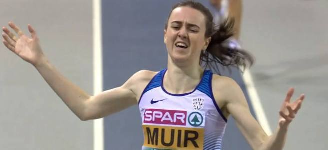 Laura Muir at European Indoor Athletics Championships 2019