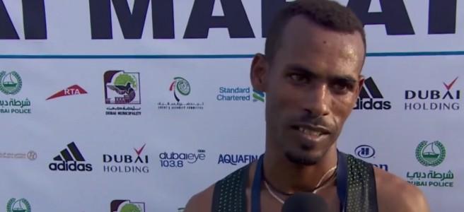 Getaneh Molla at Dubai Marathon 2019